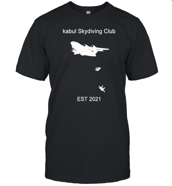Kabul skydiving club t shirt